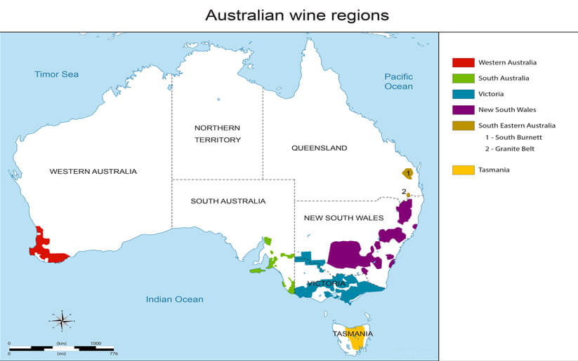 Regions Of Australia Map.Most Popular Wine Regions Of Australia Just Wines