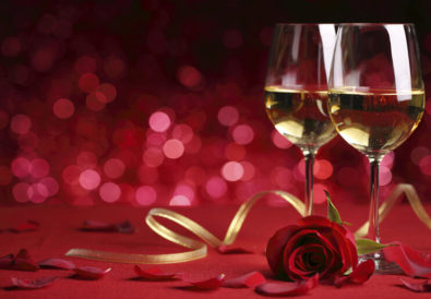 valentine day and wines