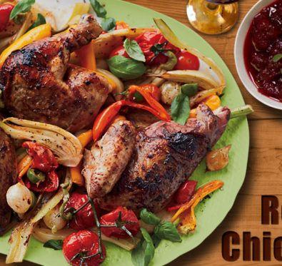 Wine roasted chicken
