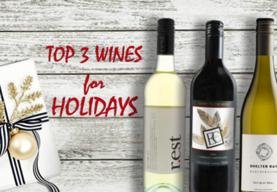 Top 3 wines for Holidays