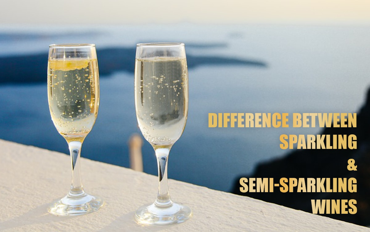 Difference between sparkling and semi-sparkling wines